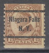 USA Precancel Vorausentwertung Preo, Bureau New York, Niagara Falls 598-52 - Vereinigte Staaten