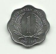 1987 - Caraibi Est 1 Cent, - Caraibi Orientali (Stati Dei)