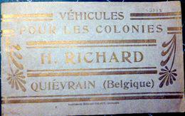 COLONIES VEHICULES POUR COLONIES CATALOGUE QUIEVRAIN CHARIOT POUR COTON  CAFE BOEUFS GRUMES TOMBEREAU CHARRETTE ATTELAGE - Transport