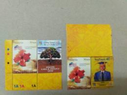 Malaysia 2007 Personalised Stamps Muhriz Negri 40 Years National University UKM 30c  Wmk Inverted P14.5 Mnh 2v  Margin - Malesia (1964-...)
