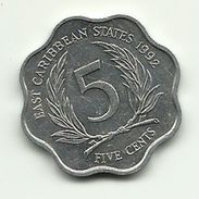 1992 - Caraibi Est 5 Cents - Caraibi Orientali (Stati Dei)