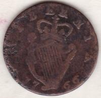 Irlande. ½ Penny 1766, GEORGE III, Copper, KM# 137 - Ierland
