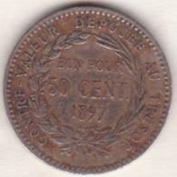 COLONIE DE LA MARTINIQUE .BON POUR 50 CENTIMES 1897 - Colonies