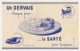 Buvard  19.5 X 12.5 CH. GERVAIS Fromage Plateau Gournay Carré Triple Crème  Camion Voiture à Cheval - Dairy