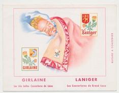 Buvard 16 X 12.2 GIRLAINE   LANIGER  Les Couvertures De Laine Et De Grand Luxe  Bébé - Textile & Clothing