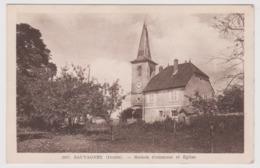 SAUVAGNEY - Maison Commune Et Eglise / Environs Moncley Chambornay Les Pins Gezier Etuz Auxons Dessus Dessous Geneuille - France