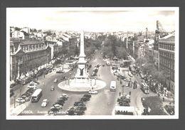 Lisboa - Avenida Da Liberdade - Tram / Tramway - Busses - Cars - Photo Card - Lisboa