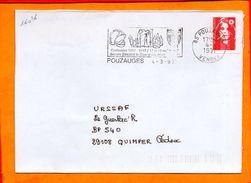 VENDEE, Pouzauges, Flamme SCOTEM N° 16036, Centenaire Des Sapeurs Pompiers 17-18 Mai 1997 - Postmark Collection (Covers)