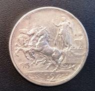ITALIA REGNO - 2 LIRE - ANNO 1915 - ARGENTO - QUADRIGA BRIOSA - QUALITA'  BB - ZECCA R - OSSIDO NATURALE NON PULITA - 1861-1946 : Royaume