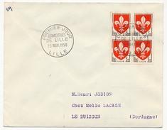 FRANCE - Enveloppe Affr 4x 5F Armoiries De Lille - 1958 - Premier Jour - France