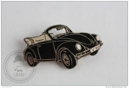 Volkswagen Beetle Convertible Black Colour - Signed Demons & Mervelles Pin Badge #PLS - Volkswagen