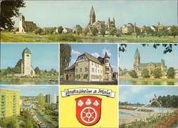 Grossauheim Am Main, Mainpanorama, Gustav Adolf Kirche Mehrbildkarte - Zonder Classificatie
