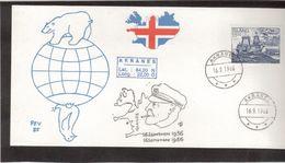 C3 - Carte Postale AKRANES 16.9.1986 , Disparition De CHARCOT. 2 Illustrations PEV - 1944-... Republique