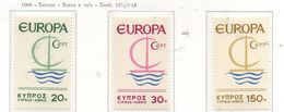 PIA  - CIPRO GRECA  - 1966  : Europa -  (Yv  262-64) - Europa-CEPT