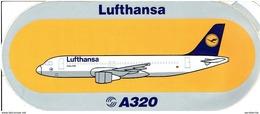 AIRBUS - Sticker: LUFTHANSA - A-320 - Aufkleber