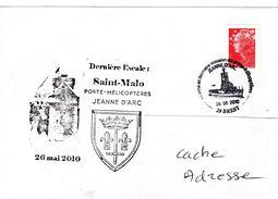 Porte Hélicoptère PH JEANNE D'ARC JDA Dernière Campagne Dernière Escale De Virée Saint Malo Obl. Temporaie Brest 26/05/1 - Marcophilie (Lettres)