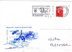 Porte Hélicoptère PH JEANNE D'ARC JDA Dernière Campagne  Obl. JDA 31/03/10 - Marcophilie (Lettres)
