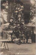 CPA PHOTO 95 SANNOIS Souvenir Groupe En Goguette Devant Le Moulin Rare - Sannois