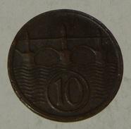 CECOSLOVACCHIA / CZECHOSLOVAKIA - 10 HALERU – 1924 – (31) - Czechoslovakia