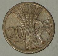 CECOSLOVACCHIA – CESKOSLOVENSKA – 20 HALERU - 1927 - (47) - Cecoslovacchia