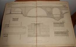 Plan D'un Grand Pont En Pierre Sur La Nydeck à Berne 1856. - Public Works