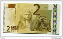 """Belle Carte """"Cie Générale De Bourse"""" Paris, Représentant Un Billet Fictif De 2 Euros - La Dame De Brassempouy - Euro - EURO"""
