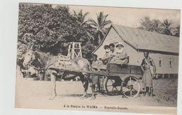 """1 Cpa Nouvelle Guinée """" A La Station De Waima """" Attelage - Autres"""