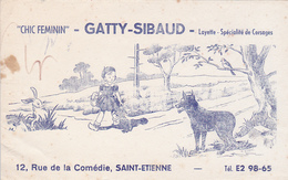 Buvard - Chix Feminin - Gatty-Sibaud - Saint-Etienne - Buvards, Protège-cahiers Illustrés