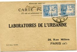 POLOGNE CARTE POSTALE BON POUR UN FLACON ECHANTILLON D'URISANINE DEPART WARSZAWA ? III 27 POUR LA FRANCE - 1919-1939 Republic