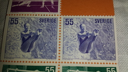 2stamps Sweden Sverige 1972 Sport Olympic Olympics Games Game Mnh ** From Mini Sheet Ms - Schweden