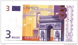"""Billet De 3 Balles (3 Euro) """"Osprey, Bijoutier à Paris Et Rouen"""" - Billet De Nécessité - Bonds & Basic Needs"""