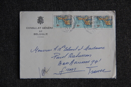 Lettre Du MOZAMBIQUE  ( Consulat De BELGIQUE ) à MADAGASCAR - Mozambique