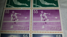 2stamps TENNIS Sweden Sverige 1972 Sport Olympic Olympics Games Game Mnh ** From Mini Sheet Ms - Schweden