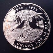"DOMINICAN REPUBLIC 1 PESO 1995 SILVER PROOF ""UN - Peace 1945-1995 ""free Shipping Via Registered Air Mail - Dominicana"