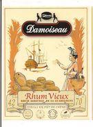 Etiquette  RHUM  DAMOISEAU 42° Rhum Vieux Agricole - 70cl -  GUADELOUPE -- - Rhum