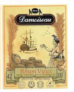 Etiquette  RHUM  DAMOISEAU 42° Rhum Vieux Agricole - 100cl -  GUADELOUPE -- - Rhum