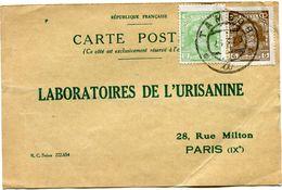POLOGNE CARTE POSTALE BON POUR UN FLACON ECHANTILLON D'URISANINE DEPART TAMBOW 26-3-29 POUR LA FRANCE - 1919-1939 Republic