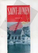 87-SAINT JUNIEN-SAINT MARTIN JUSSAC-DEPLIANT TOURISTIQUE CITE DU GANT DE PEAU-BARRAGE PHOTOS H. LETIENNE- PICAUD-ARTAUD - Dépliants Touristiques