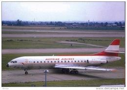 Aviation Postcard-434-AUSTRIAN AIRLINES Caravelle 6R - 1946-....: Modern Era