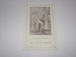 Images Religieuses.Communion De Saint Louis De Gonzague.Edition Coppin Goisse à Ath. - Religion & Esotérisme