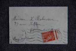 Lettre D'ORCINES à CLERMONT FERRAND ( Cat;CERES : N°415 ,Type MERCURE 60 C) - France