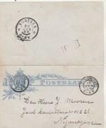 Pays Bas Entier Postal Carte Lettre MAASTRICHT 19/6/1898 Pour Nymegen - Ganzsachen