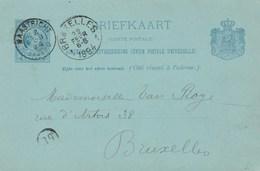 Pays Bas Entier Postal Carte Postale MAASTRICHT 22/2/1894 Pour Bruxelles Belgique - Postal Stationery