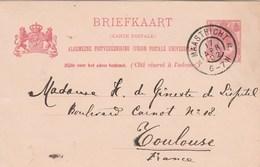 Pays Bas Entier Postal Carte Postale MAASTRICHT 17/4/1902 Pour Toulouse France - Material Postal