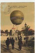 13 Marseille    Exposition Coloniale Ballon Captif Et Le Village Marocain - Exposiciones Coloniales 1906 - 1922
