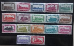 BELGIE  Spoorweg  1949   TR  304 - 320    Spoor Van Scharnier *    CW  95,00 - Chemins De Fer