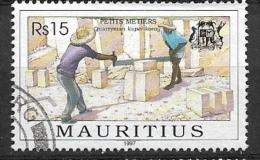 MAURITIUS  1997 Trade  PETITE METIERES USED LAST VALUE - Mauritius (1968-...)