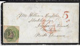 GB - 1854 - YT 7 RARE Sur LETTRE De HALIFAX (N° 330 + CACHET à DATE Au DOS) => MICHIGAN (USA) - Covers & Documents