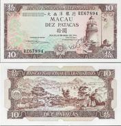 Macau 1984 - 10 Patacas - Banco Nacional Ultramarino - Pick 59 UNC - Macau