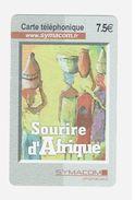 Télécartes / Symacom : Tableau - Sourire D'Afrique / Carte Rigide  Usagée / Bon Etat - Télécartes